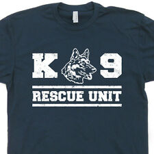 K9 Rescue Unit Dog T SHIRT security german shepherd Fireman police military tee