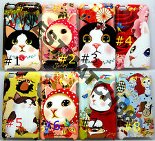 fit iPod touch 4th  itouch kitten cat kitty face hard case flower butterfly