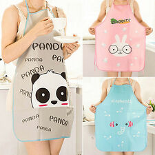 HOT Women Cute Cartoon Waterproof Apron Kitchen Restaurant Cooking Apron Best