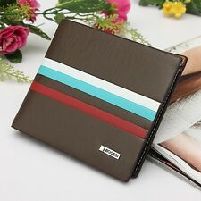 Mens Bifold Leather Wallet ID Credit Card Holder Billfold Purse Clutch Casual MI