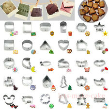 40 Shapes Cookie Cutters Pastry Biscuit Cake Decorating Metal Baking Mould *HA