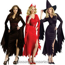 CL997 Gothic Glam Red Devil Witch Vampire Dracula Womens Adult Halloween Costume