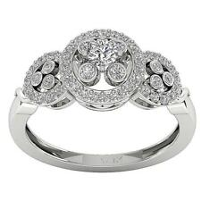 14K Solid Gold Appraisal SI1/G 0.70Ct Genuine Diamond Fancy Solitaire Ring Band