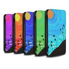 STUFF4 PU Leather Case/Cover/Wallet for Apple iPhone 4/4S/Sunset Oil Painting