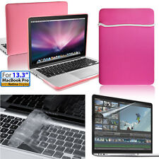 [4 in 1]Hard Case+Soft Bag+Keyboard&Film Apple Macbook Pro w/Retina 13inch/13.3""