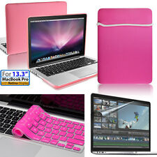 [Girly Pink]Soft Bag,Case,keyboard,Film Apple Macbook Pro w/Retina 13inch/13.3""