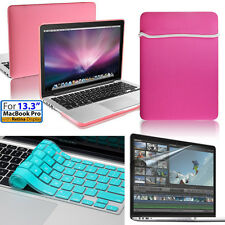 "For Women Pink Case&Soft Bag, Keyboard&Film Cover 13.3""/13 Macbook Pro w/Retina"