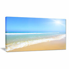 Design Art 'Sun Over Tropical Beach' Photographic Print on Wrapped Canvas