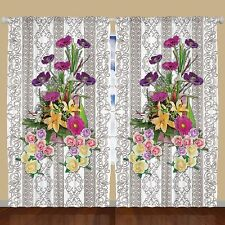 Ambesonne Curtain Panel Set of 2