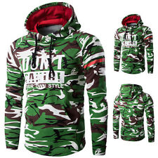 Mens Fall Winter Hoodie Camouflage Casual Outdoor Sports Jogging Coat Sweatshirt