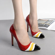 Chic Multi Colors Pointed Toe High Heel Stilettos Party Pumps Women Bridal Shoes