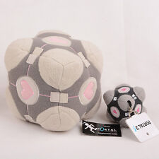 Portal 2 Weighted Companion Cube Plush Toy Stuffed Pillow/Plush Cube Keyring NEW