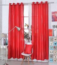 RED Glitter Sparkly Glitz Diamante Eyelet Ring Top Faux Silk Voile Curtain Panel