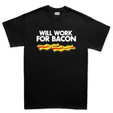 Will Work For Bacon Strips Epic Meal Funny T shirt Tee Top T-shirt