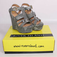Platform Wedge Shoes  ( River Island ) Size UK 3  New Boxed. rrp £50.00