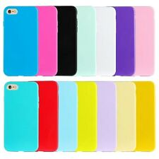 10pcs/lot Solid Candy Plain Smooth Gel Jelly TPU Soft Case  for iPhone 7/7plus