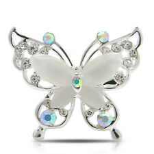 Butterfly Gold/Silver Plated Women Jewelry Fashion Crystal Rhinestone Brooch Pin