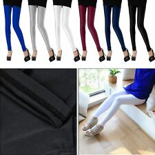 Fashion Women Neon Candy Shiny Bright Fluorescent Glow Stretch Leggings Pants