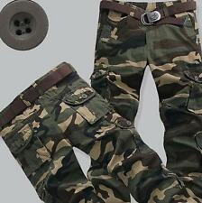 New Mens Camouflage Slim Army Baggy Tactics Military Combat Cargo Pant Trousers