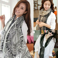 Pretty Gift Vintage Long Soft Women Fashion Voile Scarf Wrap Shawl Stole Scarves