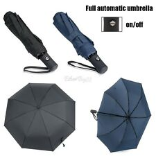 Men Ladies Strong Windproof Compact Anti-UV Folding Auto Close And Open Umbrella