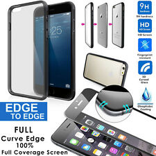 """Protection Curved Real Glass Protector+TPU&PC Bumper Case iPhone 6/6s+ 4.7""""/5.5"""""""
