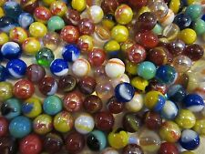 Huge Lot Of Just  Pee Wee Marbles Premium Mix In The Indiana Glass Button & Dai
