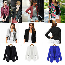 New Womens Slim Blazer Suit Business Suit Ladies Fashion Jacket Coat Outwear Top