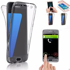 360° Shockproof Silicone Phones Protective Clear Case Cover For Samsung Galaxy