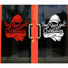 Merry Christmas Xmas Tree Home Decor Shop Window Wall Art Sticker Decal