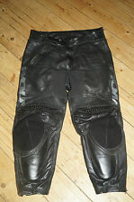 WOLF BLACK LEATHER MOTORCYCLE TROUSER - UK 34