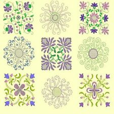 Anemone Quilt Squares Collection-7sets-273 designs-4sizes-for Machine Embroidery