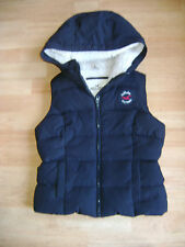 LADIES HOLLISTER HOODED GILET / BODYWARMER SIZE SMALL FEATHER / DOWN FILLING