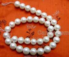 "SALE Big 12-13mm high quality White natural Freshwater pearl Loose Beads 15""-l45"