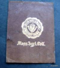 "Vintage Mass. Agriculture College 1910 Leather Crest Seal Patch 2 1/2"" by 2"""