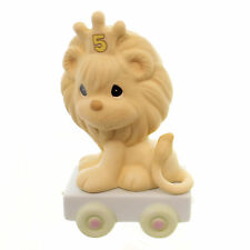 Precious Moments AGE 5 BIRTHDAY TRAIN Porcelain Sam Butcher Lion 142025