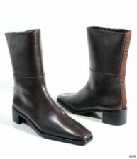 new STUART WEITZMAN 'Harrison' brown nappa leather zipper FLAT ANKLE BOOTS