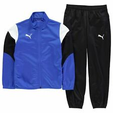 Puma Kids Poly Tracksuit Junior Boys Sport Elastic Training Bottoms Full Zip Top