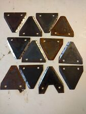 12 assorted Triangle sickle/ scythe mower blades