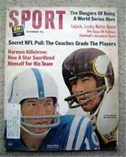 Sport Magazine Nov 1965 Unitas Colts Mason Vikings Cvr