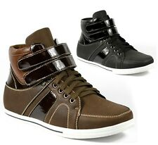 Delli Aldo Men's High Top Lace Up Fashion Sneakers Ankle Boots Shoes M-55002