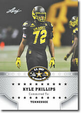 10-Ct Lot 2015 KYLE PHILLIPS Leaf US Army All-American Rookie RCs TENNESSEE