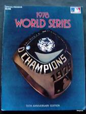 1978 World Series Baseball Program NY Yankees vs Los Angeles Dodgers