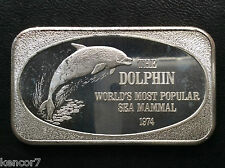 1974 USSC The Dolphin USSC-171 Silver Art Bar A1468