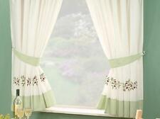 1 PAIR GREEN OLIVES KITCHEN CURTAINS - LAST ONE MUST GO  66 x 54