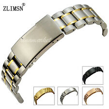 Watch Band Strap Stainless Steel Link Bracelet Straight End Mens Womens 18~26mm