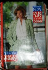 SEE & SEW Pattern 5968 Jacket & Jumpsuit Sz 6 -10 NEW
