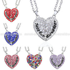 Best Gift For Mom/Mum 2PC/Set Love Heart Mother Daughter Pendant Chain Necklace