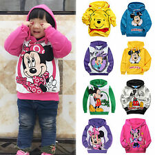 2-9Y Boys Girls Cartoon Mickey Minnie Pullover Hoodies Kids Sweatshirt Coat Tops