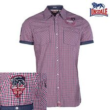 Lonsdale Men'S Shirt Reigate Short Sleeve Checked Boxing London S to 3XL NEW